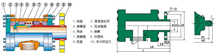 QD-F型旋转天博国际线路检测(65-100)结构图