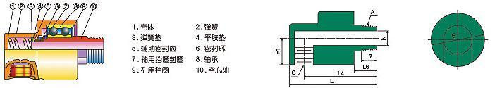 HD型旋转天博国际线路检测结构图
