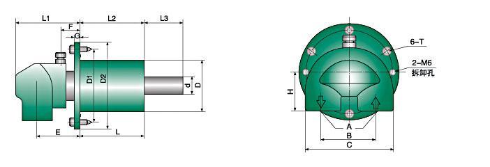 钢厂专用HMD型旋转天博国际线路检测结构图